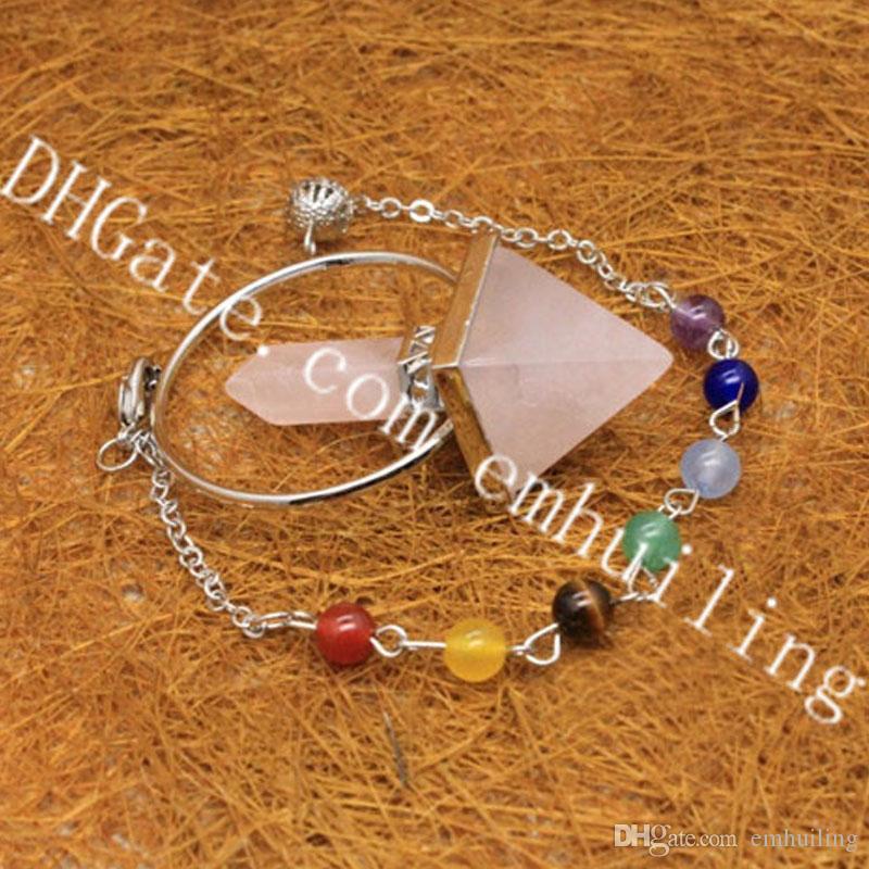 Natural Gemstone Stone Crystal Healing Chakra Reiki Silver Necklace Pendant Bead