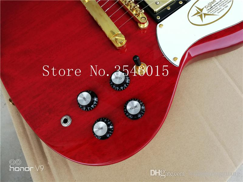Custom with Classic Red 3 pickups sg guitar Deluxe 2018completed musical instruments Chinese sg electric guitar free shipping