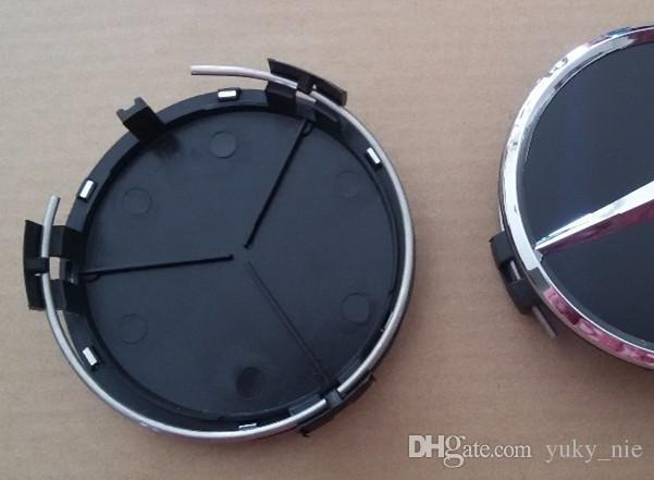 """20pcs 3 """"75MM مركز العجلة قبعات قبعات صالح لل W203 W204 W124 W211 W212"""