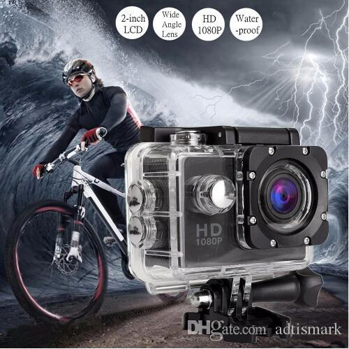Wholesale Action Camera Full HD 1080P Digital Sports DVing Photo Cam underwater Waterproof cameras 30M Camcord 2.0 Inch Mini Video Cam