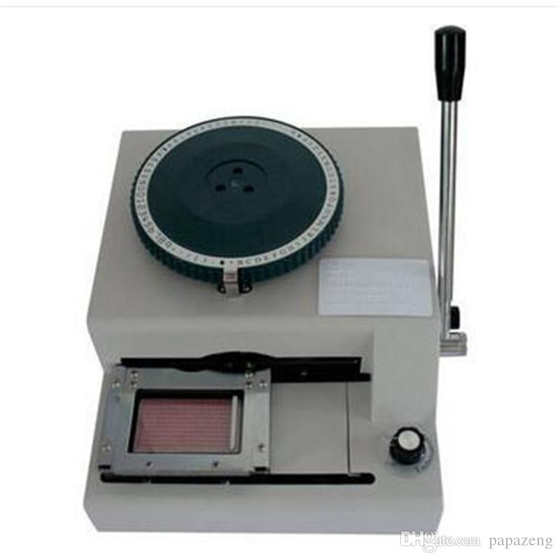 Highly Sophisticated Metal Card Embossing Machine White Coder Braille machine membership card VIP card PVC small coding machine new