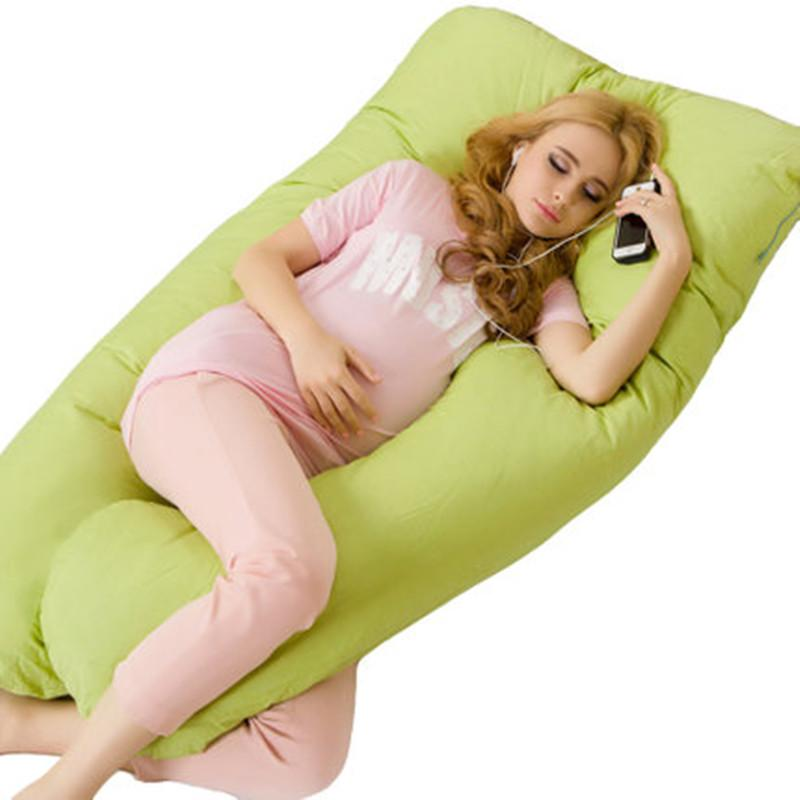 U forma130 * 70 CM travesseiros Maternidade gravidez Confortável corpo gravidez travesseiro Mulheres grávidas Side Sleepers coxim 130 * 70 CM