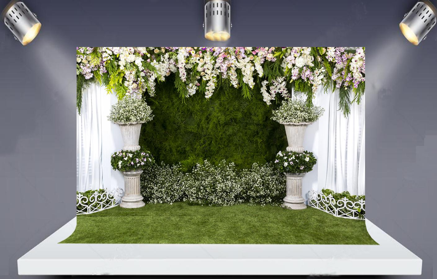 wholesale Photo Backdrop Large Wedding Bridal Shower Floral Wall 3D Flowers Backdrops for Photography Photo Studio Xt-6946