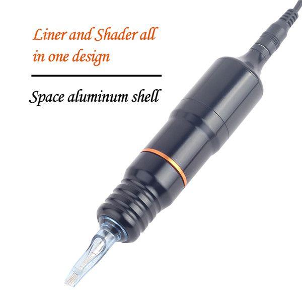 Liga de alumínio Carving Tatuagem Pen Rotary Tattoo Machine Precision DC Motor Tattoo Pen Machine para Tattooist Hot Barato