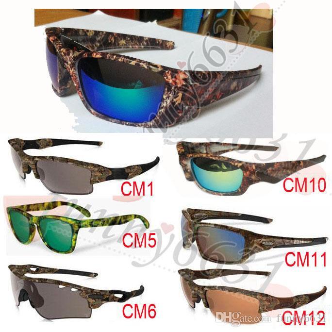 10 قطع أحدث الصيف الرجال التمويه النظارات الشمسية التمويه واقية نظارات المرأة mossyoak realtr نظارات الدراجات نظارات 13 نمط