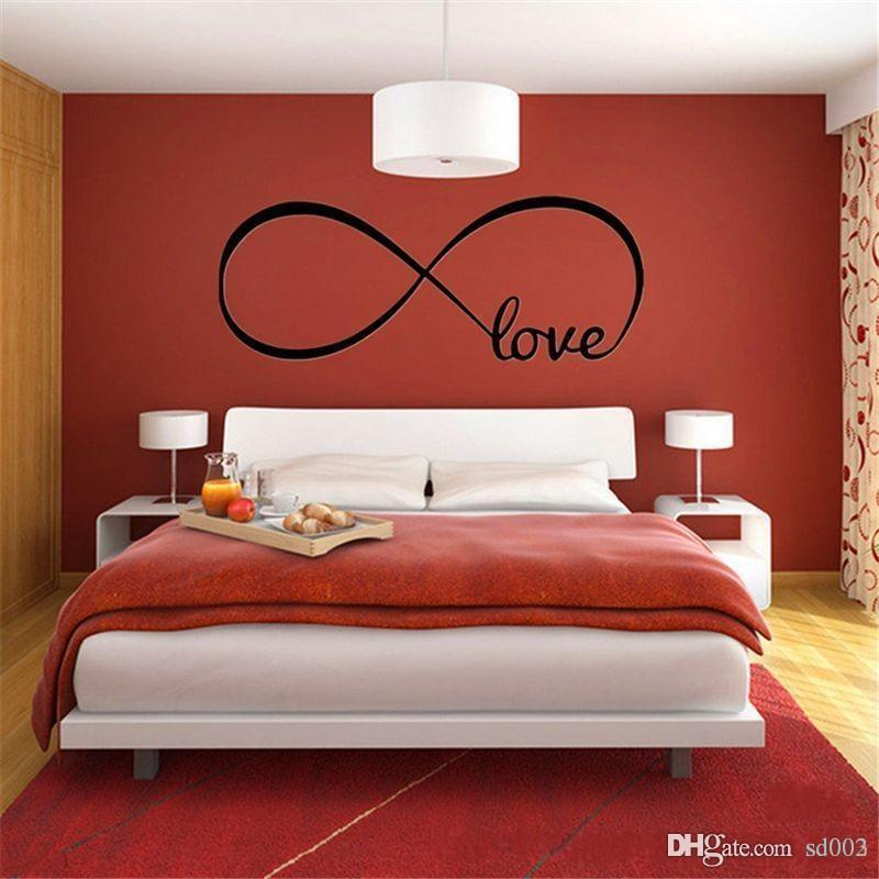 Infinity Symbol Love Wall Stickers Waterproof Self Adhered Sticker For Home Unique Decor PVC Paster Moisture Proof Design 2 9ls ZZ