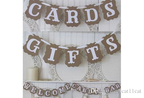 GIFTS Sign Bunting Wedding Party Banner Garland Hanging Decoration