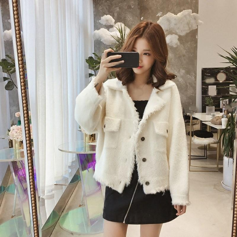 2018 Sonbahar Kış Kadın Faux Kürk Ceket Giyim Casual Sıcak Püsküller Ceket Gevşek Uzun Kollu Teddy Ceket