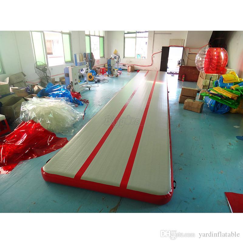 الصين مصنع رياضة الهواء حصيرة نفخ الهواء السقطة المسار تراجع معدات الجمباز الحصير للبيع