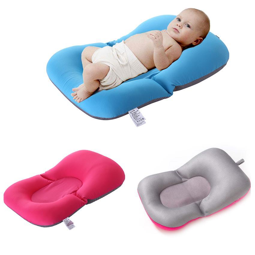 Safety Portable Baby Shower Cushion Bed Bath Pad Infant Non-Slip Bathtub Mat UK