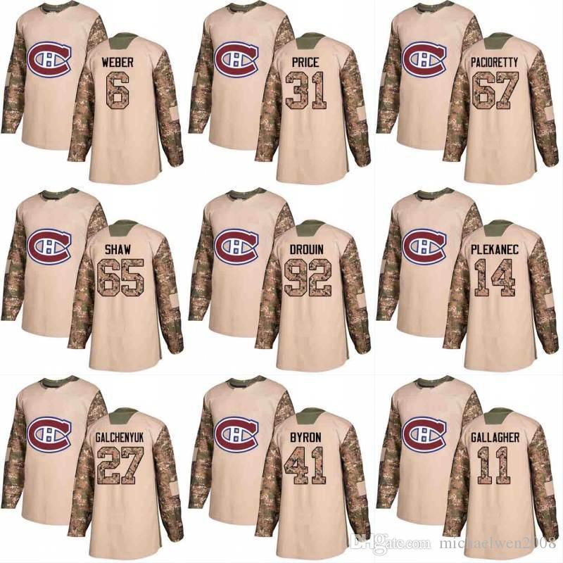 2018 Camo Veterans Day 92 Jonathan Drouin 20 Nicolas Deslauriers 54 Charles Hudon 62 Artturi Lehkonen Montreal Canadiens Hockey Jerseys