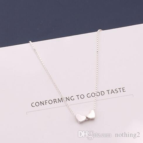 المجوهرات قلادة من الفضة S925sterling للنساء الفضية الصغيرة مكعب قلادة قلادة بسيطة الأزياء الساخن خالية من الشحن