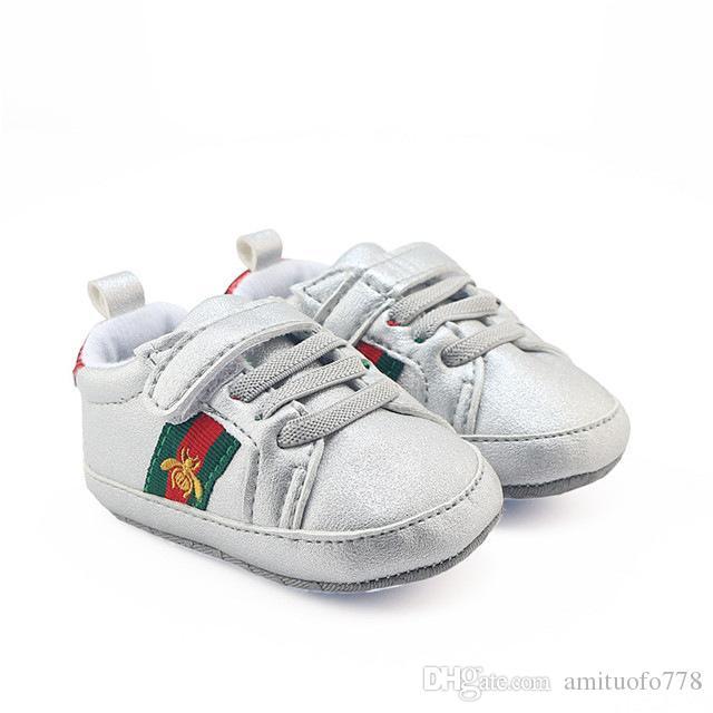 Romirus chaud bébé garçons girts Sneakers vente bébé mocassins PU en cuir tout-petit premier marcheur chaussures à semelles souples Newborn 0-1 ans