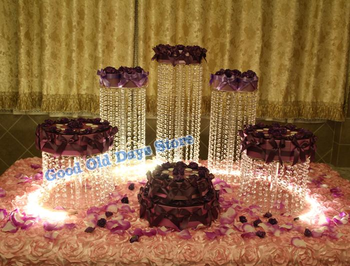 5pcs Birthday Decoration Cake Display small size wedding Banquet Party Cake cupcake display Master crystal table centerpiece