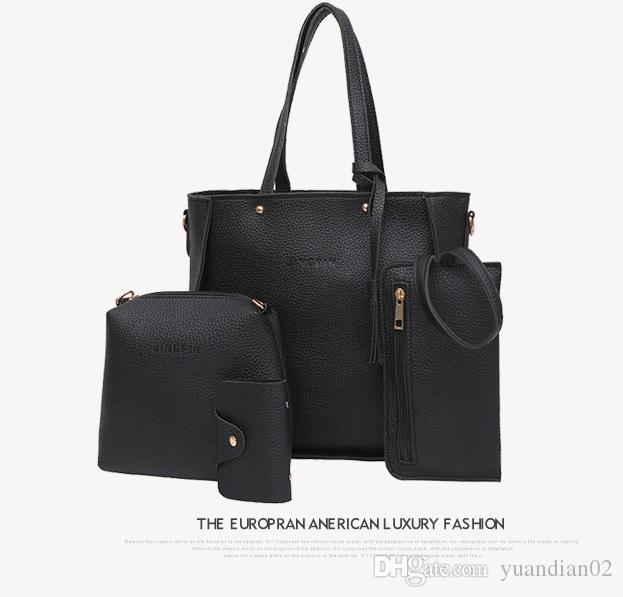 Lady Hand bag New Luxury PU Leather Tassel Handbag 3 Pcs Composite Bags Set Lady Shoulder Crossbody Women Bag Female Wallet Clutch