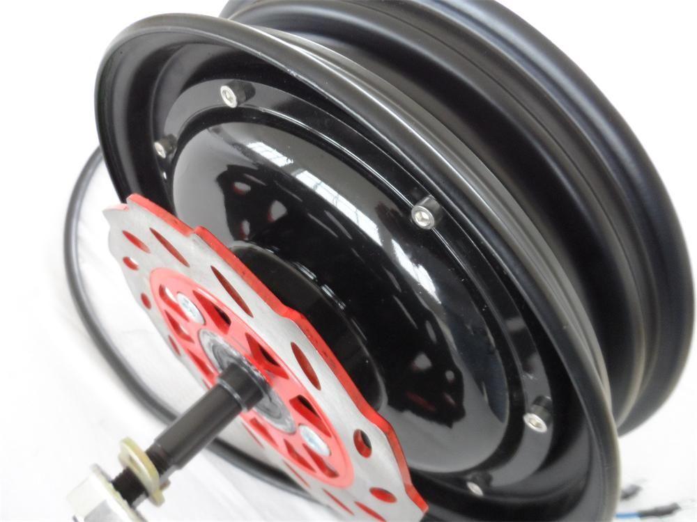 10 inç 48 V / 60 V / 72 V 2000 W fırçasız yüksek güç hub motor / güçlü tekerlek göbeği motorlu / e-scooter motor
