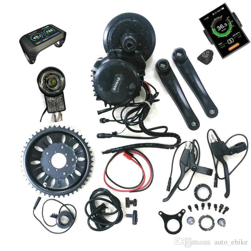 Nova versão 48 V 1000 W 46 T Roda Dentada BBSHD 8Fun Bafang Meados Drive Motor Ebike Kit Motor 6 V luz, luz e engrenagem do sensor conectores incluídos