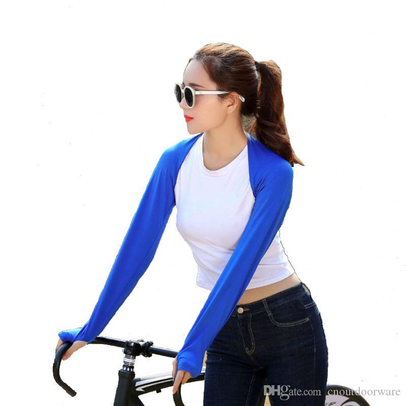 Summer outdoor sunscreen women bicycle arm warmers golf cycling flash dry ice cool arm sleeves shawl colors available