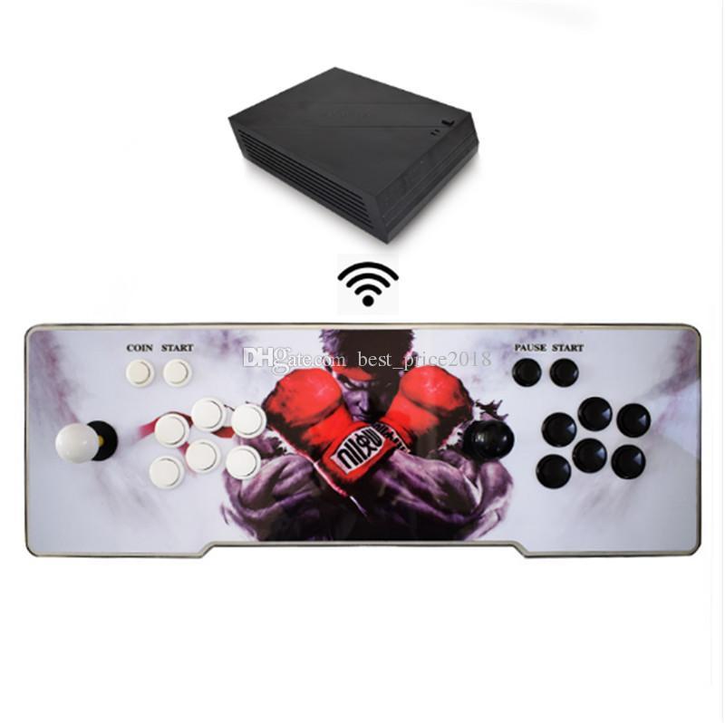 판도라 5S 6S 1299 1388 게임을 저장할 수 있습니다 무선 아케이드 게임 박스 2 어린이 게임 기계 콘솔을위한 조이스틱 컨트롤러 제로 지연