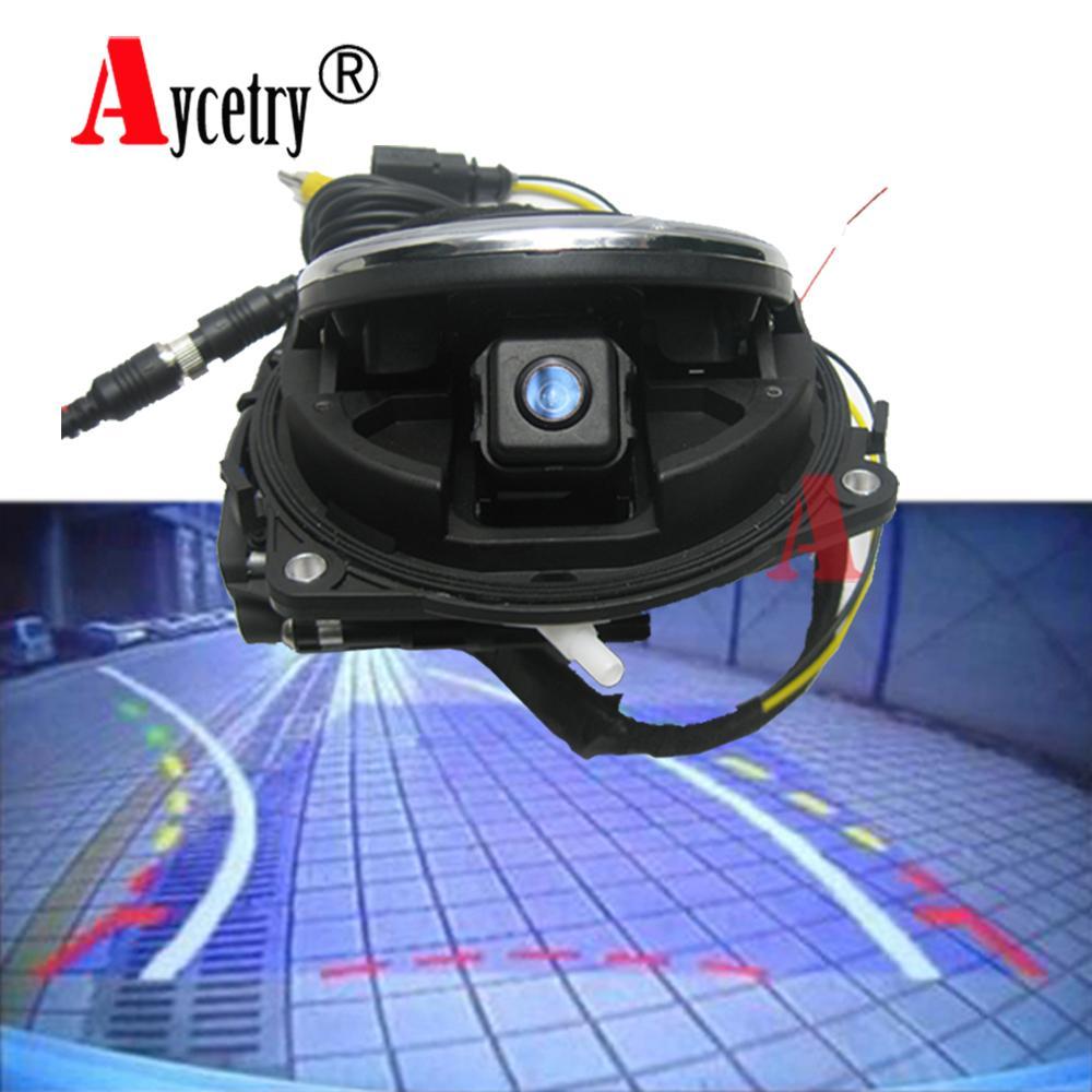Aycetry! VW Logo dell'automobile del CCD HD Telecamera posteriore CC Golf 6 Passat Phaeton emblema intelligente dinamica Flipping parcheggio di inverso Camera