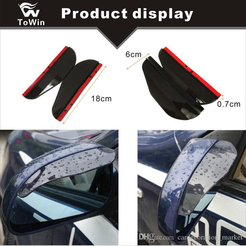 Protezione Antipioggia Universale Protezione Visiera Protezione paraneve Accessori per Auto specchietto Esterno Kooshy 2 Pezzi Protezione specchietto retrovisore per Auto sopracciglio Pioggia