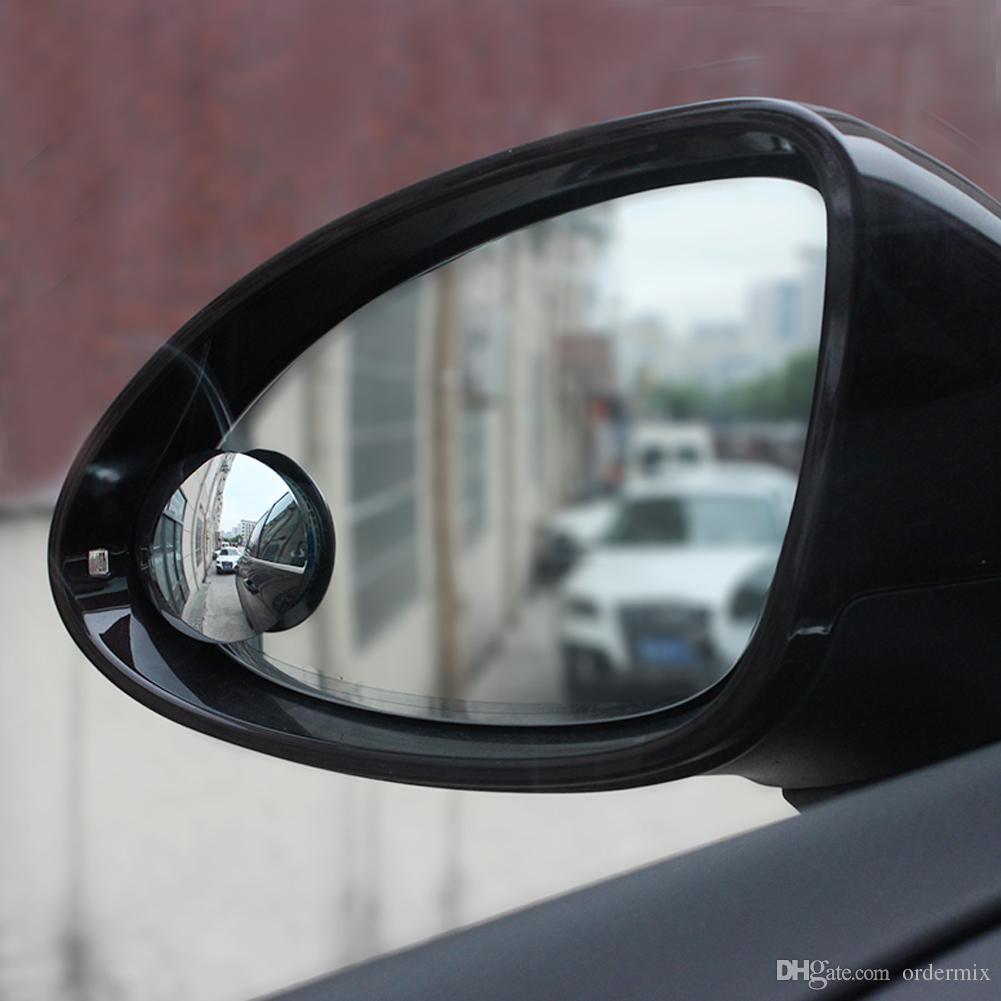 2018 Universal Car Lustro Szerokokątny Okrągły Wypukłe Niewidoczne Lusterko Parking Widok z tyłu Lusterko Rain Shade Auto Akcesoria