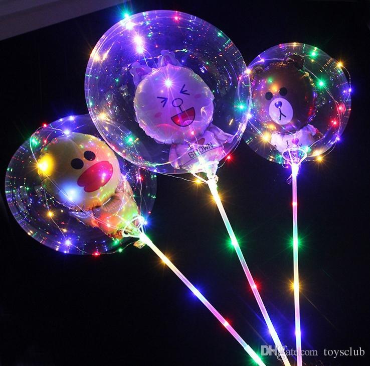 12 projeto LED balão luz do dia da noite balão de luz balão de aniversário de natal diy decoração urso coelho animal levou balão 60 pcs