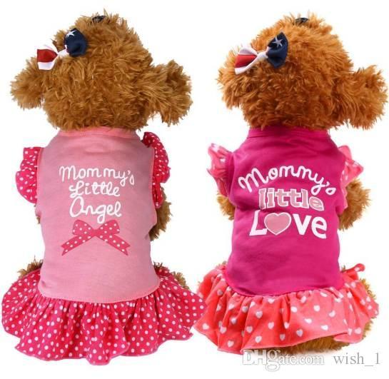 Summer Puppy Pet Pet Cat Pet Dress Abbigliamento Vestiti Fly Sleeve Dress Ropa De Verano Para Perros Vestiti per cani da ragazza
