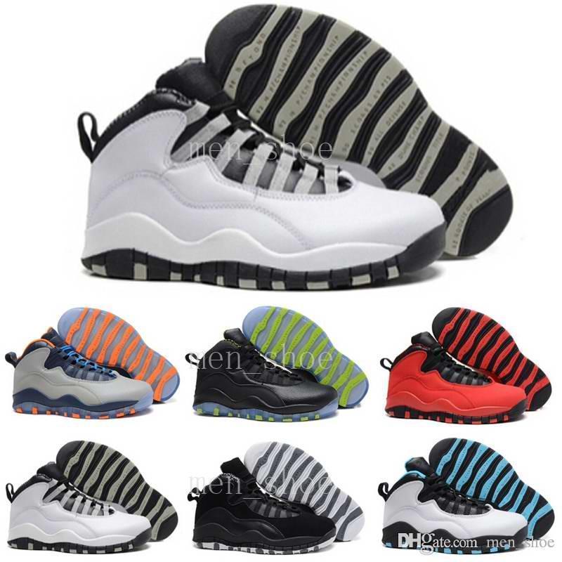 [Avec la boîte] Vente en gros pas cher Air 10 Hommes Chaussures de basketball Baskets Femmes Hommes Online Superstar s X Sport Toile Real Authentic 41-47