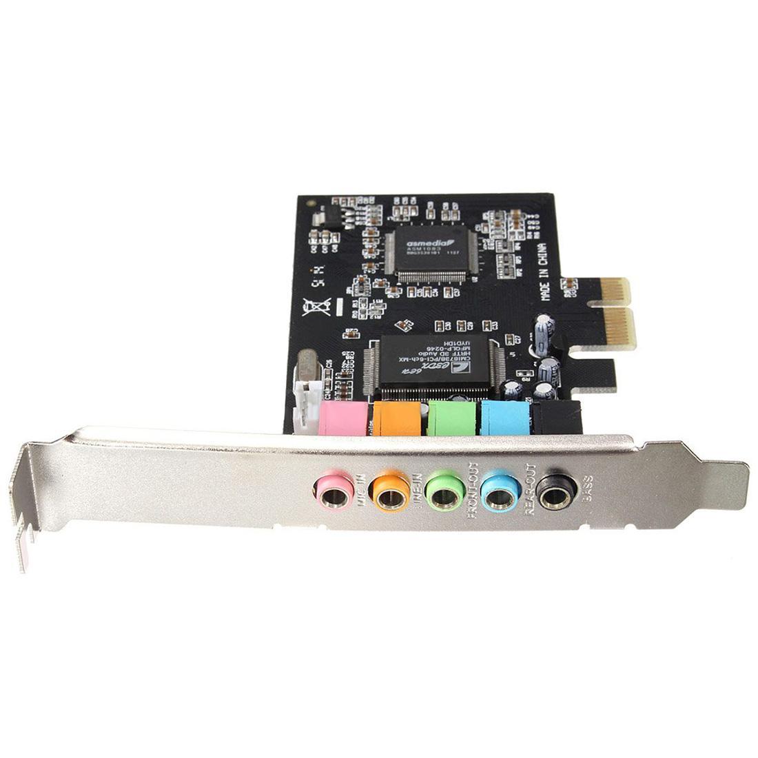 Freeshipping PCI-E 5.1 Sound Carte son 6 ports CMI8738 Cinema stéréo Surround Sound Card
