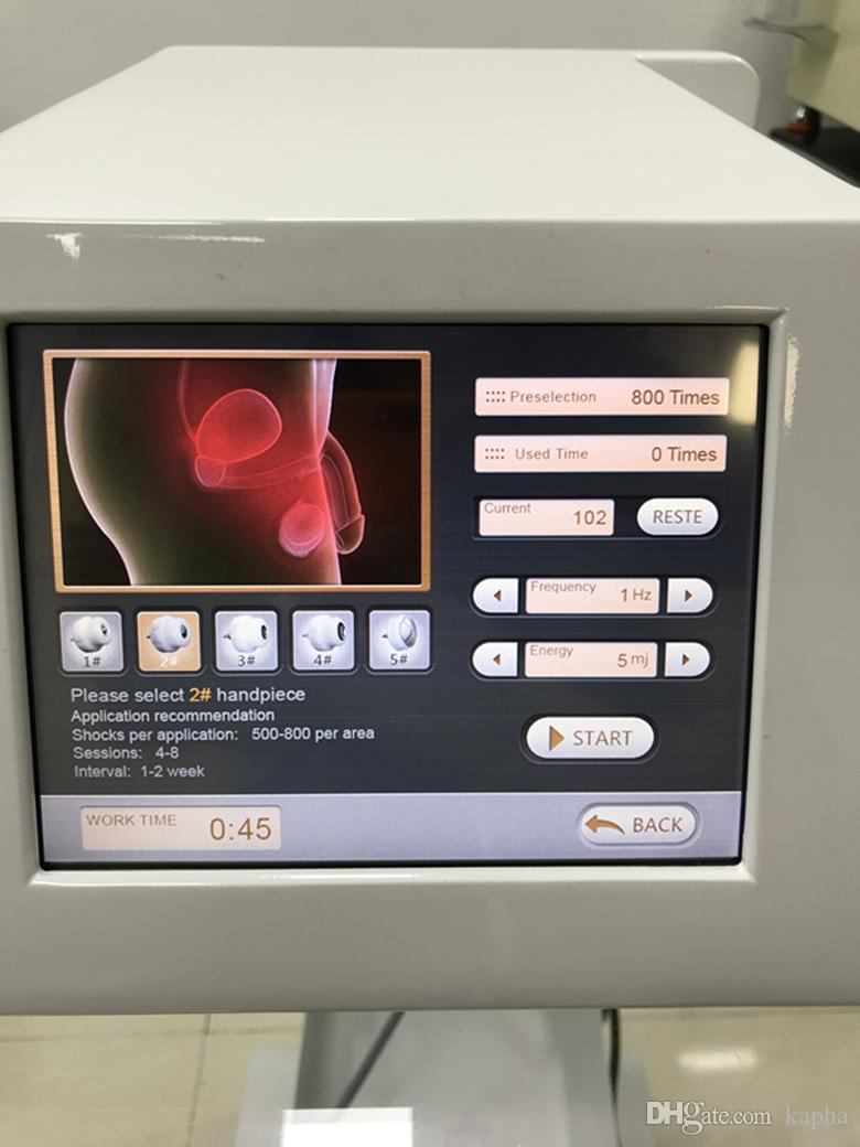 terapia de ondas de choque portátil tiene una baja intensidad para las articulaciones dolor y la máquina de tratamiento physiotheraply disfunción eréctil ED