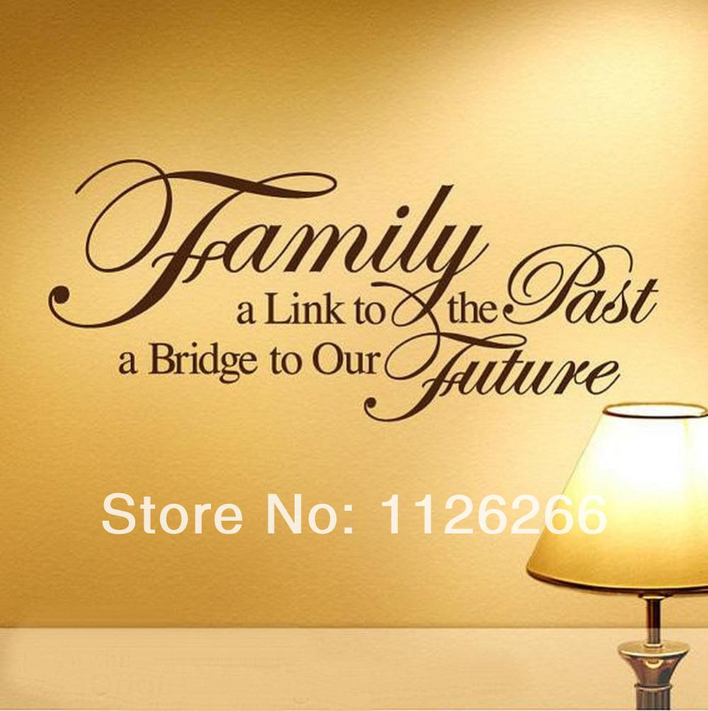 Family A Bridge To Our Future Vinyl Wall Stickers Art Home Room ...