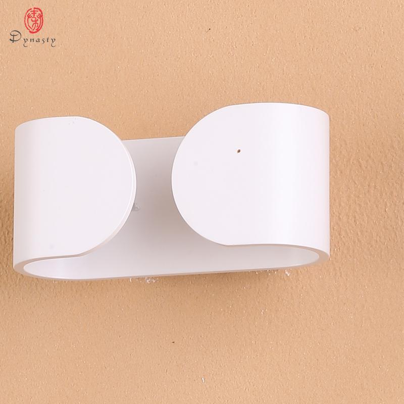 Hanedanı Alüminyum LED Modern Duvar Lambası Süper Parlak Fikstür İç Dekorasyon Duvar Işık AC85V-265V Fuaye Koridor Yemek Odası Çalışma
