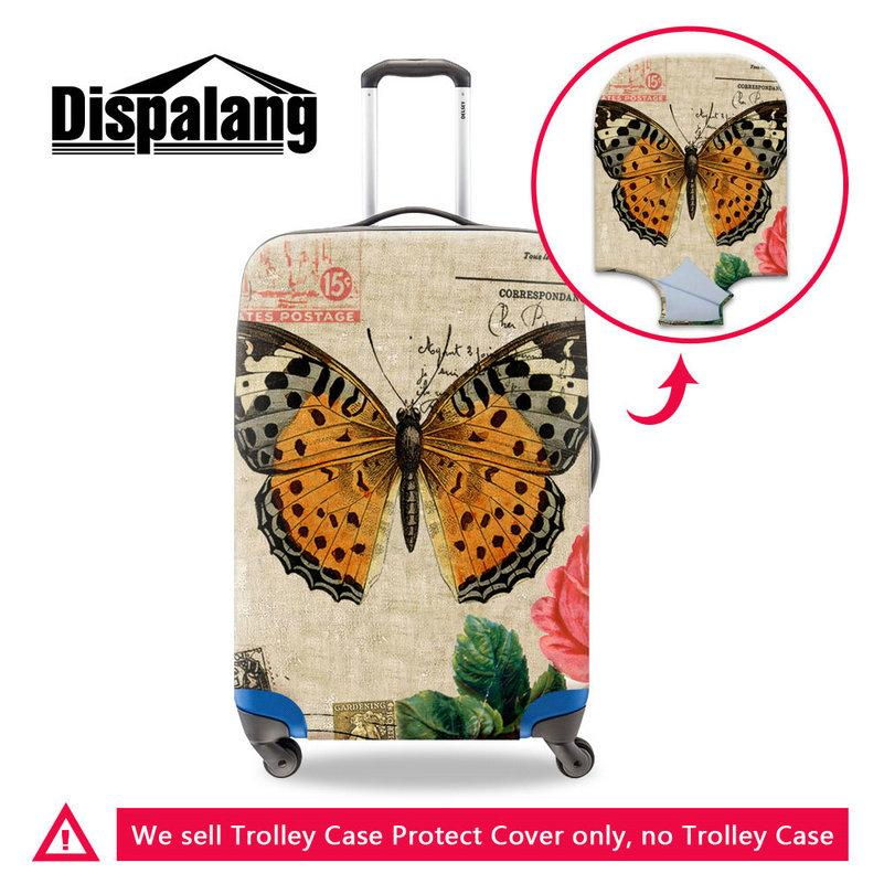 Pretty Butterfly Print Spandex Suitcase Protector For Women Luggage Protective Covers For Lady Girls Travel Outdoor