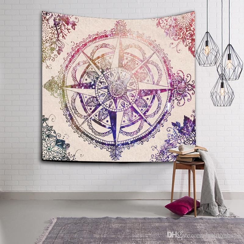Tapestry Wall Hanging Carpet Bohemian Door Curtain Bohemian Elephant Household Tapestries Beach Towel Picnic Blanket 150*130CM