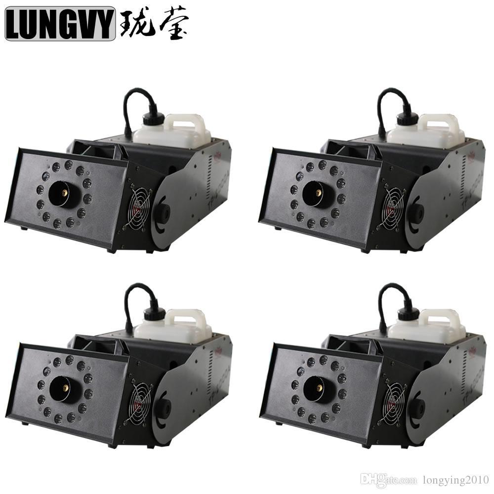 4 teile / los 2000 Watt RGB 3IN1 Multi-Angle Nebelmaschine Nebelmaschine Bühne Spezialeffekt Disco DJ Party mit DMX Fernbedienung