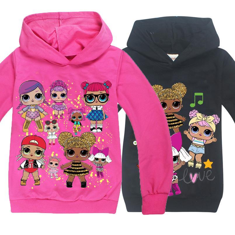 100٪ ٪ عارضة طويلة الأكمام هوديس الكرتون أنيمي 3d الفتيات تي شيرت ملابس الأطفال القمصان الطفل قمم الاطفال الرياضة بلوزة قميص Y1891409