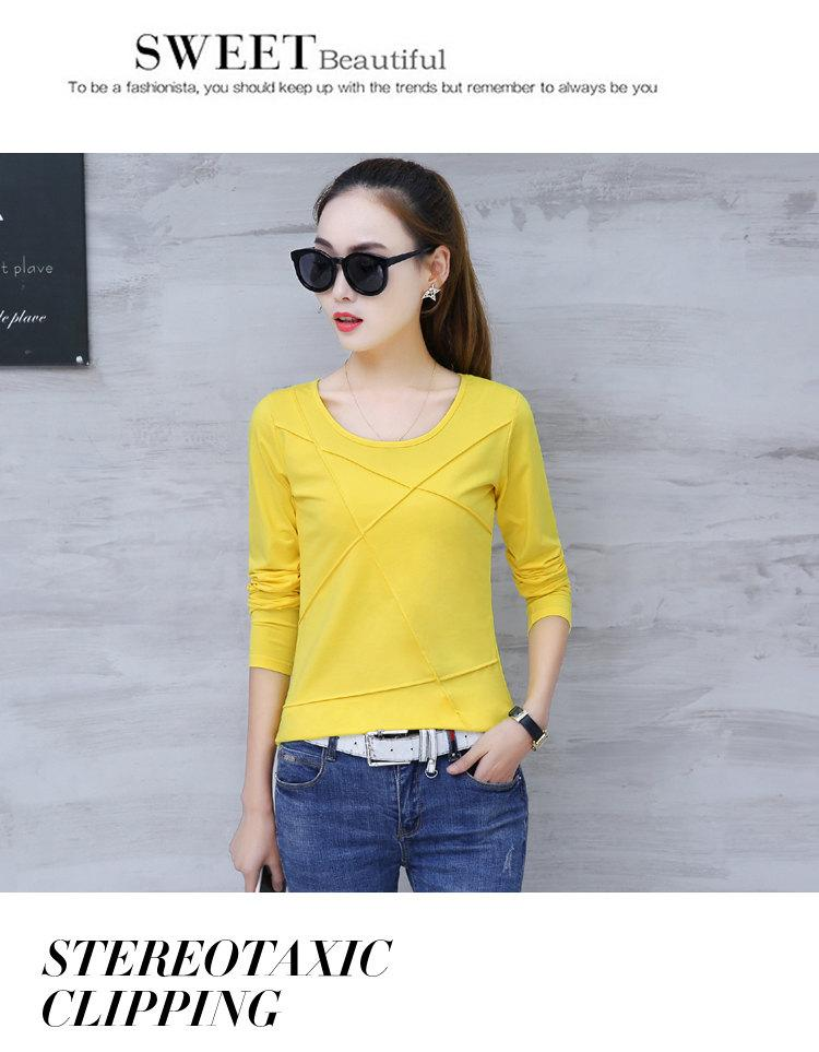 Plus Size Tshirt Women T-shirt Tee Tops Femme Autumn Long Sleeve T-shirts For Women 2019 Casual Cotton Tops Tees Camisetas Mujer (6)