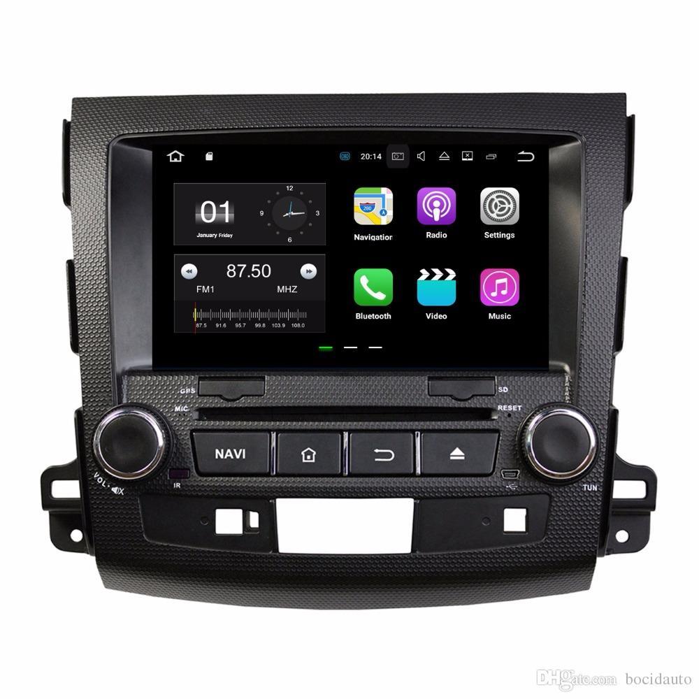 "8 ""Android 7.1 Araba Radyo DVD GPS Multimedya Kafa Ünitesi Araba DVD Mitsubishi Outlander 2006-2012 2 GB RAM Bluetooth WIFI Ile Ayna-bağlantı"