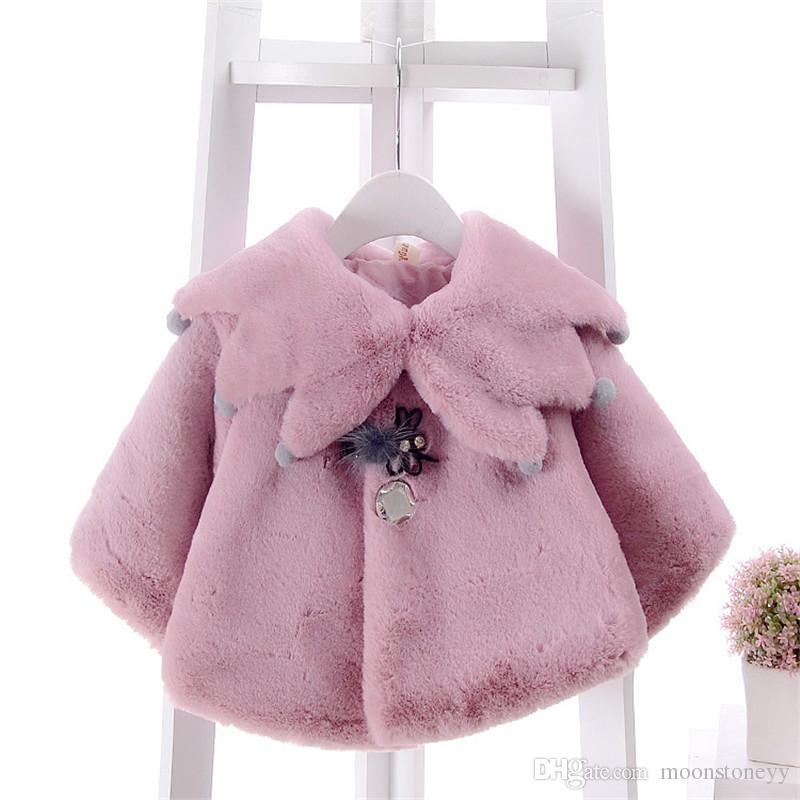 Sevimli Kız Şal Ceket 2018 Bebek Kore Versiyonu Moda Pelerin Bebek Panço Bebes Dış Giyim Giyim Clj052