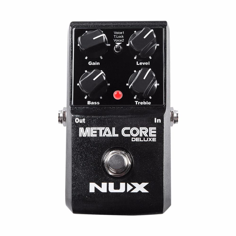 NEW NUX Upgraded Metal Core Deluxe Distortion Guitar effects Pedal classic metal and modern extreme heavy metal guitarra pedal