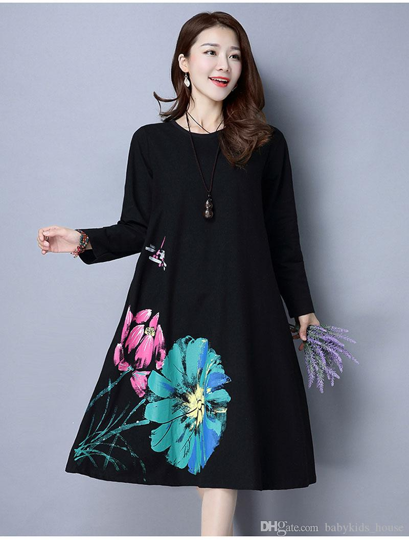 2021 Long Sleeve Maternity Dress Loose Large Size Clothes For Pregnant Women Dresses Casual O Neck Pregnancy Dress Autumn New From Babykids House 16 66 Dhgate Com