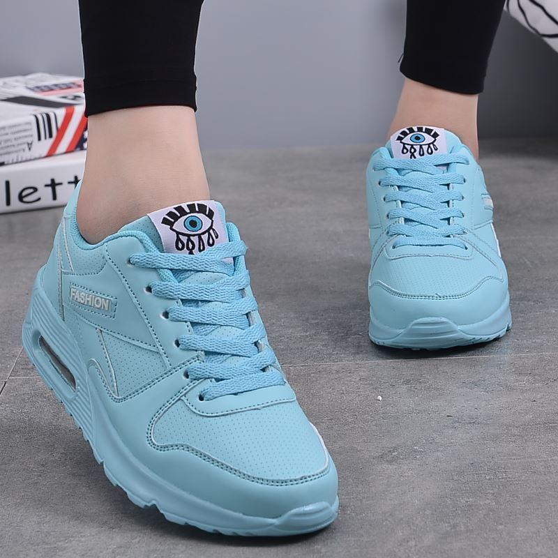 gran surtido nuevo estilo garantía de alta calidad 2018 New Fashion Flat Women Trainers Breathable Shoes Woman Leather Casual  Tenis Feminino Sapato Women Flats Zapatillas Mujer High Top Shoes Cheap ...