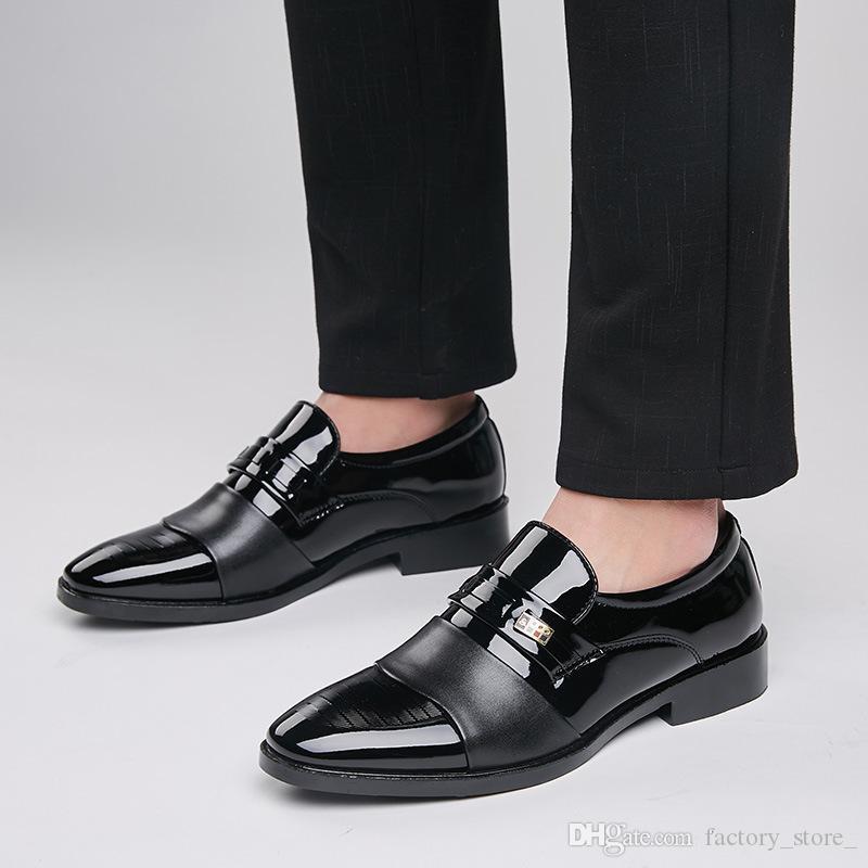 Italian Brand Men Dress Shoes Leather