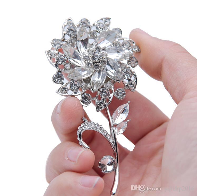 Rhinestone nupcial boutonniere accesorios nupciales boda suministros broche de joyería de comercio exterior