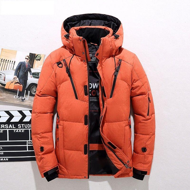 Großhandel 2018 Hohe Qualität 90% Weiße Ente Dicke Daunenjacke Männer Mantel Schnee Parkas Männlichen Warme Marke Kleidung Winter Daunenjacke