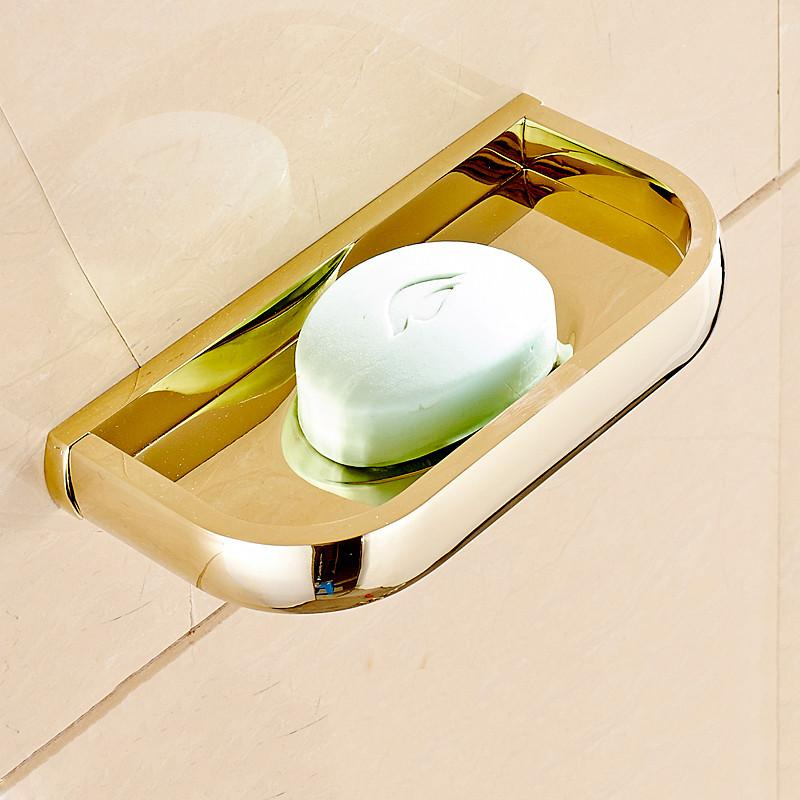 Cobre Latón metal plato de jabón montado en la pared del jabón de cobre Accesorios de baño de latón macizo del producto plato sostenedor del envío F 81359