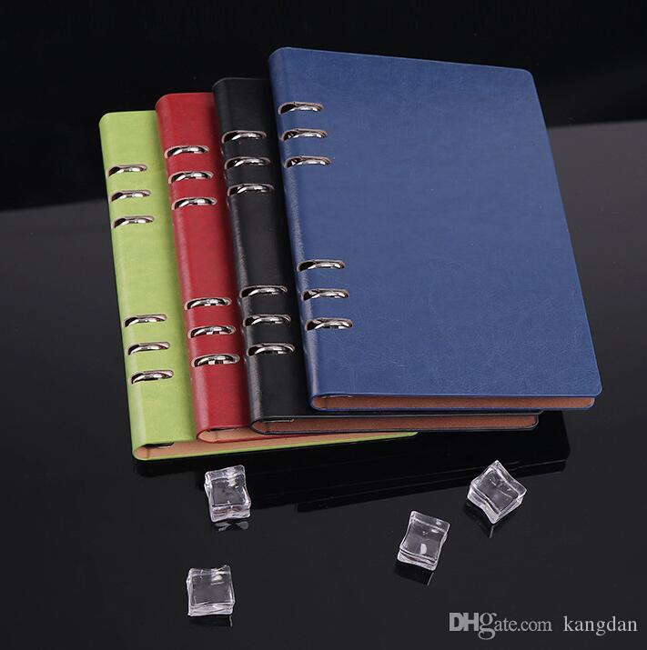 Leather covers business notepads A5 vintage office school supplier spiral notebooks kids student stationery notebooks for sales