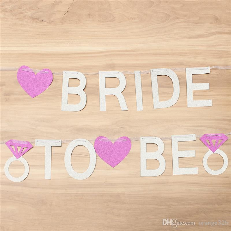 Bride To Be Banner Silver Glitter Garland Wedding Bridal Shower Hen Party  *~