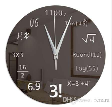 Gran Reloj de Pared Creativo Matemáticas Pizarra Pop Quiz Reloj de Diseño Moderno Gran Relojes de Pared Para la Sala de estar Decoración de La Pared